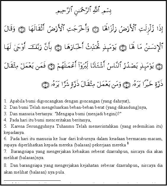 Kandungan Surat Al Zalzalah 1 8 Adalah Brainlycoid