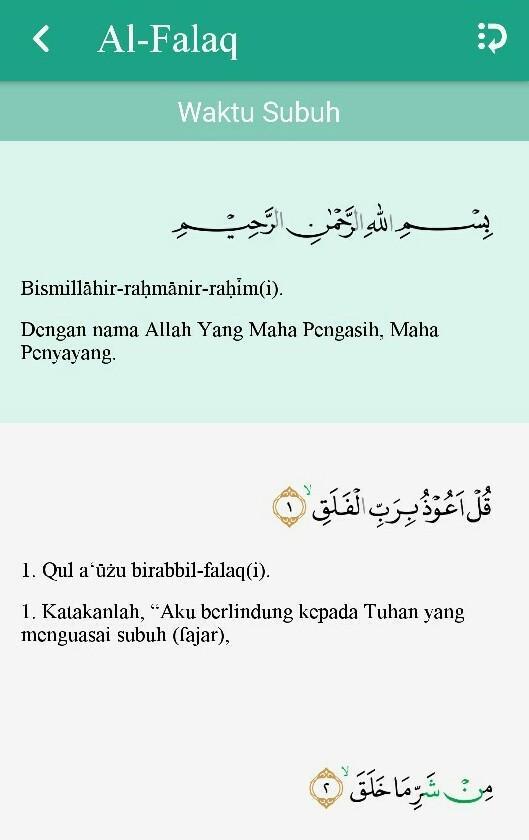 Surah Al Falaq Terdapat Pada Juz Yang Ke Please Dong Bantu