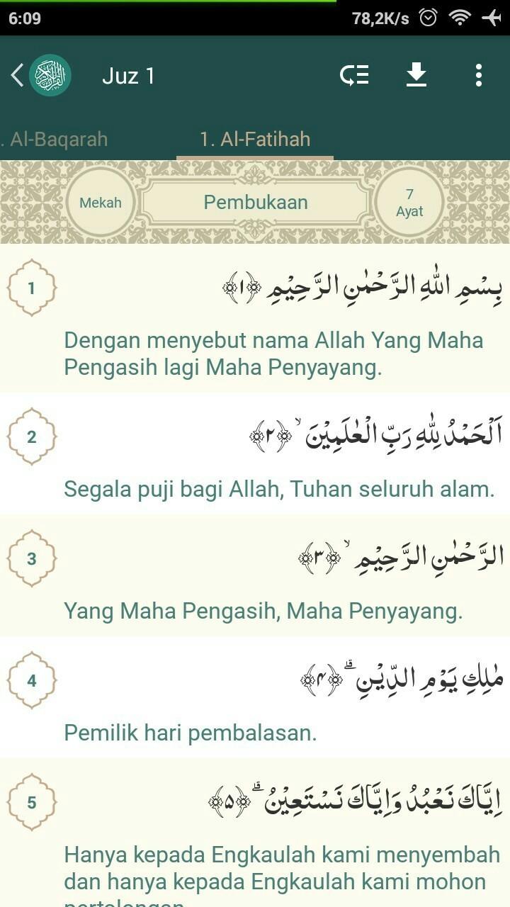 Apa Arti Dari Surat Al Fatihah Ayat 1 7 Jawab Brainlycoid