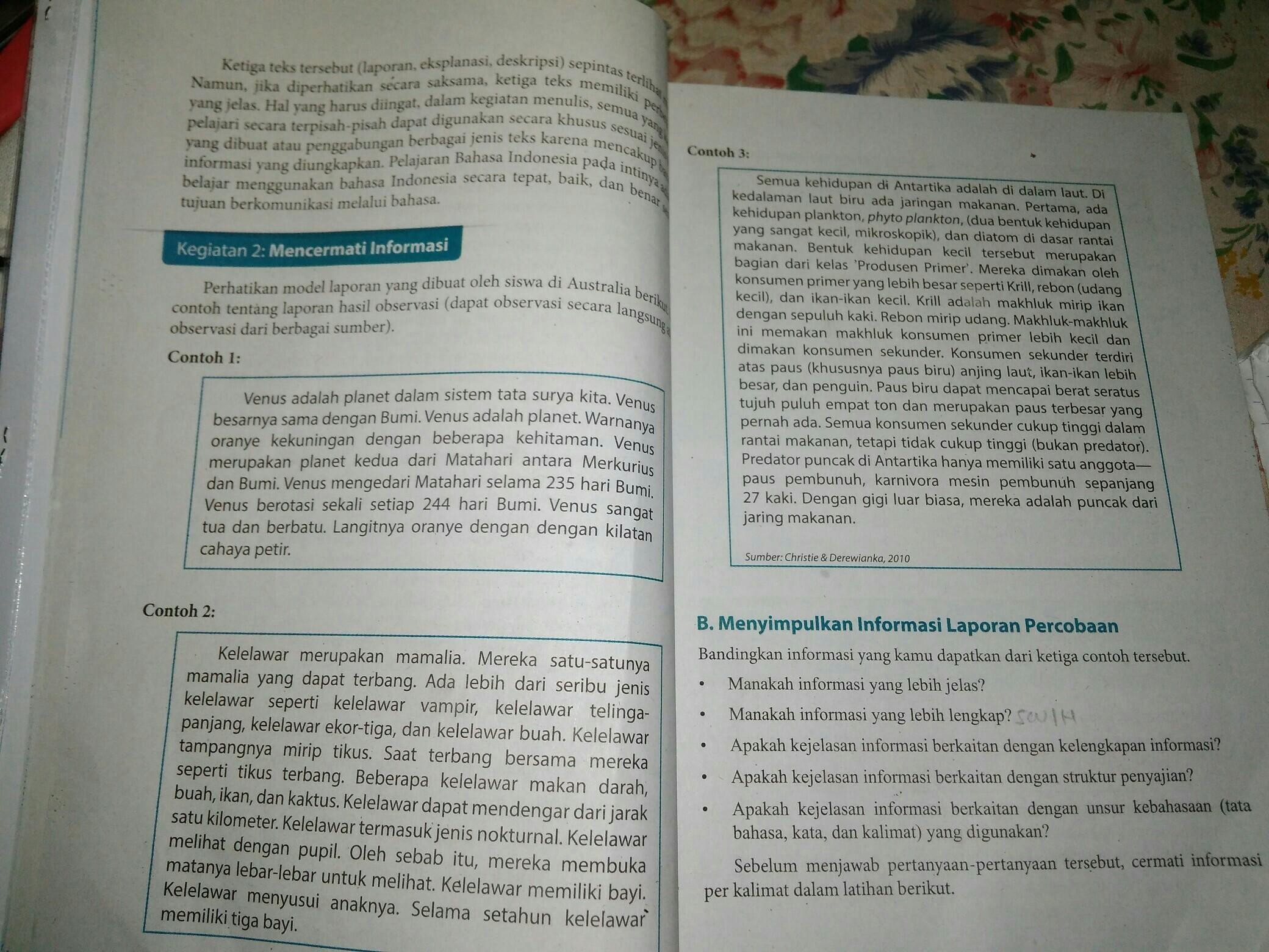 Simpulkan Informasi Laporan Percobaan Brainly Co Id