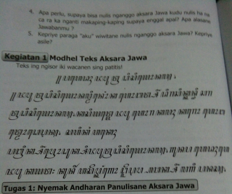 Jawaban Bahasa Jawa Kelas 7 Hal 108 Brainly Co Id