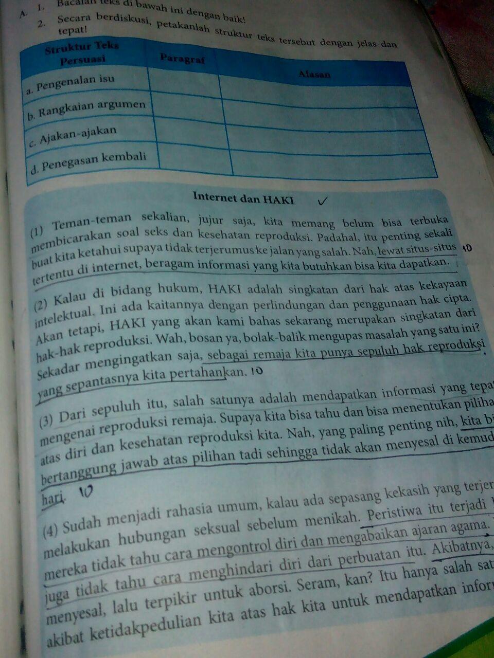 kegiatan 7.6 halaman 190 bahasa Indonesia kelas 8 ...