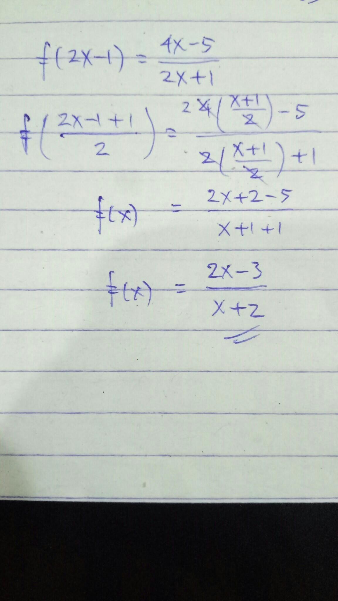 Jika F 2x 1 4x 5 2x 1 Maka F X Brainly Co Id
