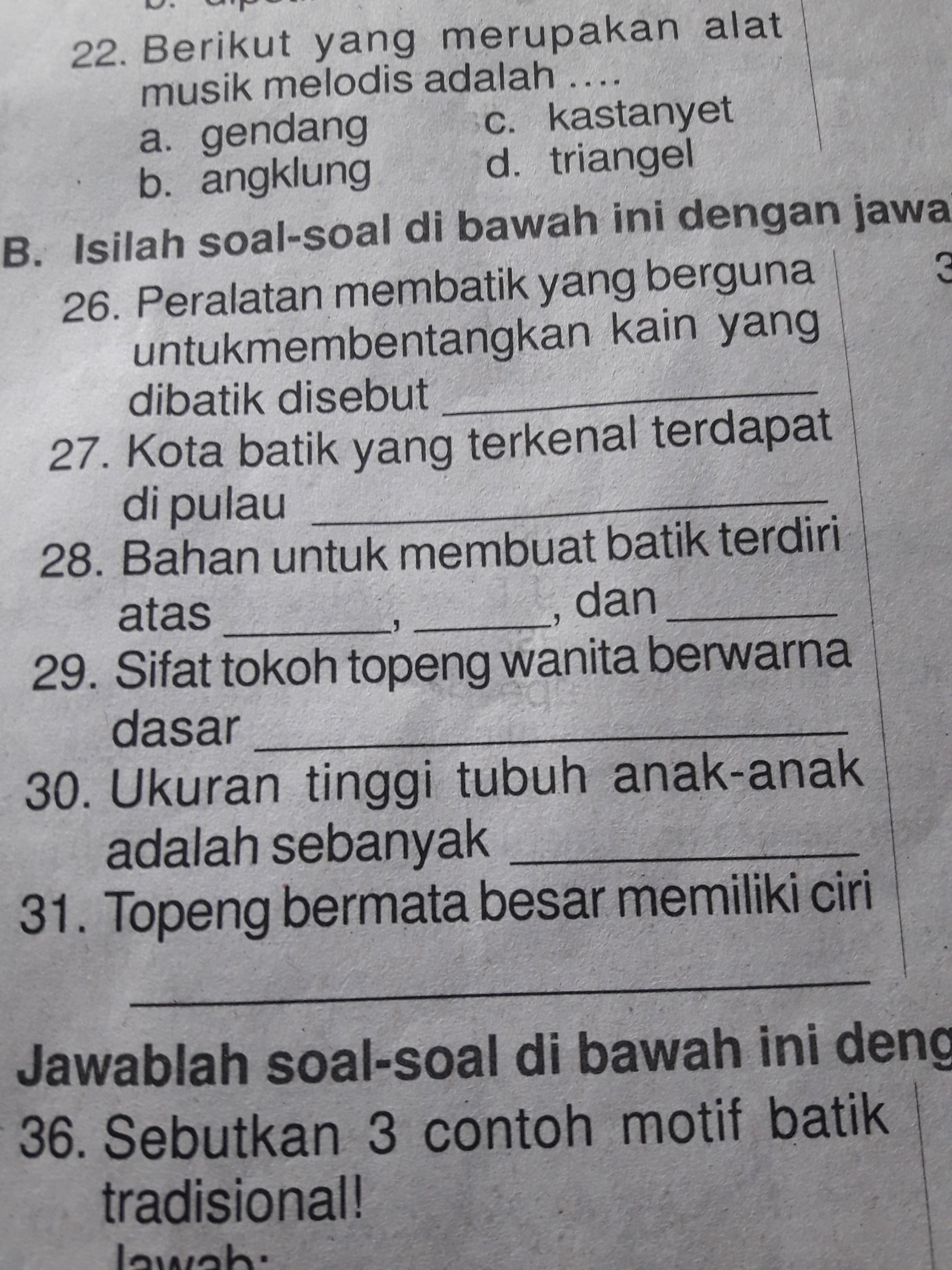 Kk Tolong Bantu Jawab Soalnnya Nomor 29 Dan 31 Brainly Co Id