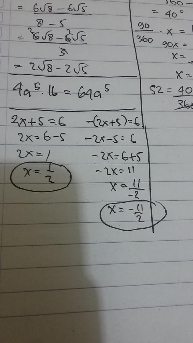 Tentukan Nilai X Dari Persamaan Nilai Mutlak 2x 5 6 Adalah Brainly Co Id