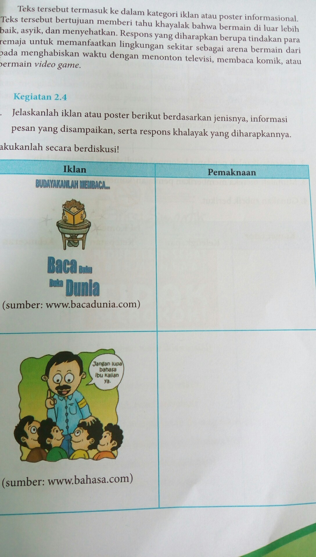 Jelaskan Iklan Atau Poster Berikut Bedasarkan Jenisnya Informasi Pesan Yang Disampaikan Serta Brainly Co Id