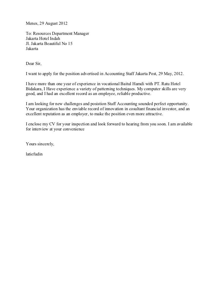 Contoh Surat Lamaran Kerja Tentang Chef On Board Dalam Bahasa