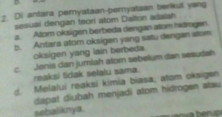 Pernyataan Berikut Ini Yang Merupakan Teori Atom Menurut ...