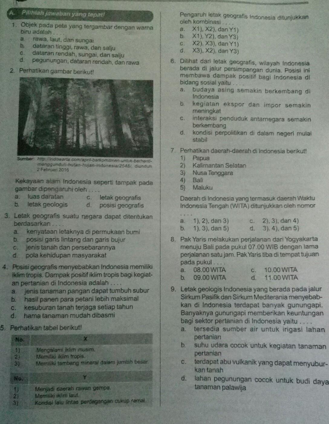 Jawaban Lks Ips Pr Smp Semester 1 Kelas 7 Brainly Co Id