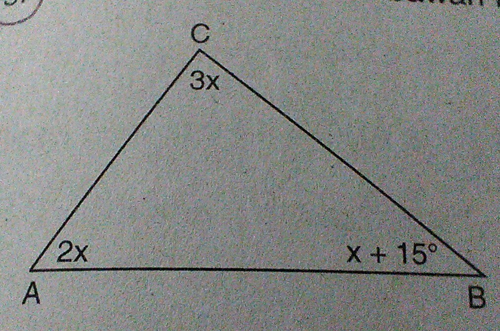 perhatikan gambar di bawah ini. besar sudut a adalah ...