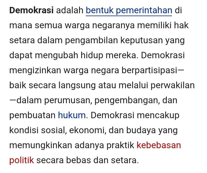 Pada Hakikatnya Demokrasi Adalah Brainly Co Id