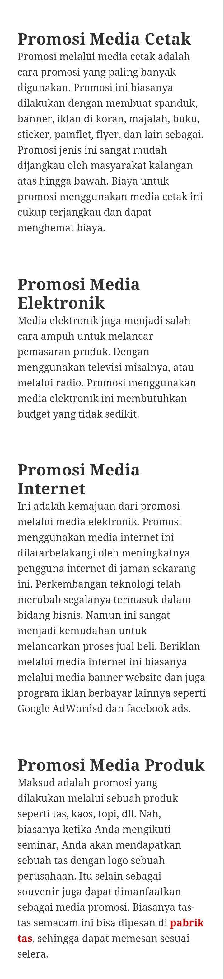 Menerapkan Media Promosi Pemasaran Brainly Co Id