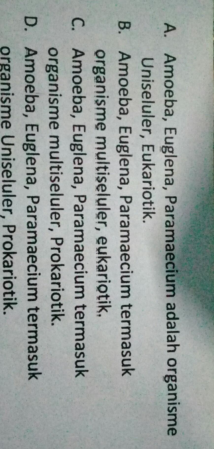 pernyataan berikut yang benar berkaitan dengan organisme ...