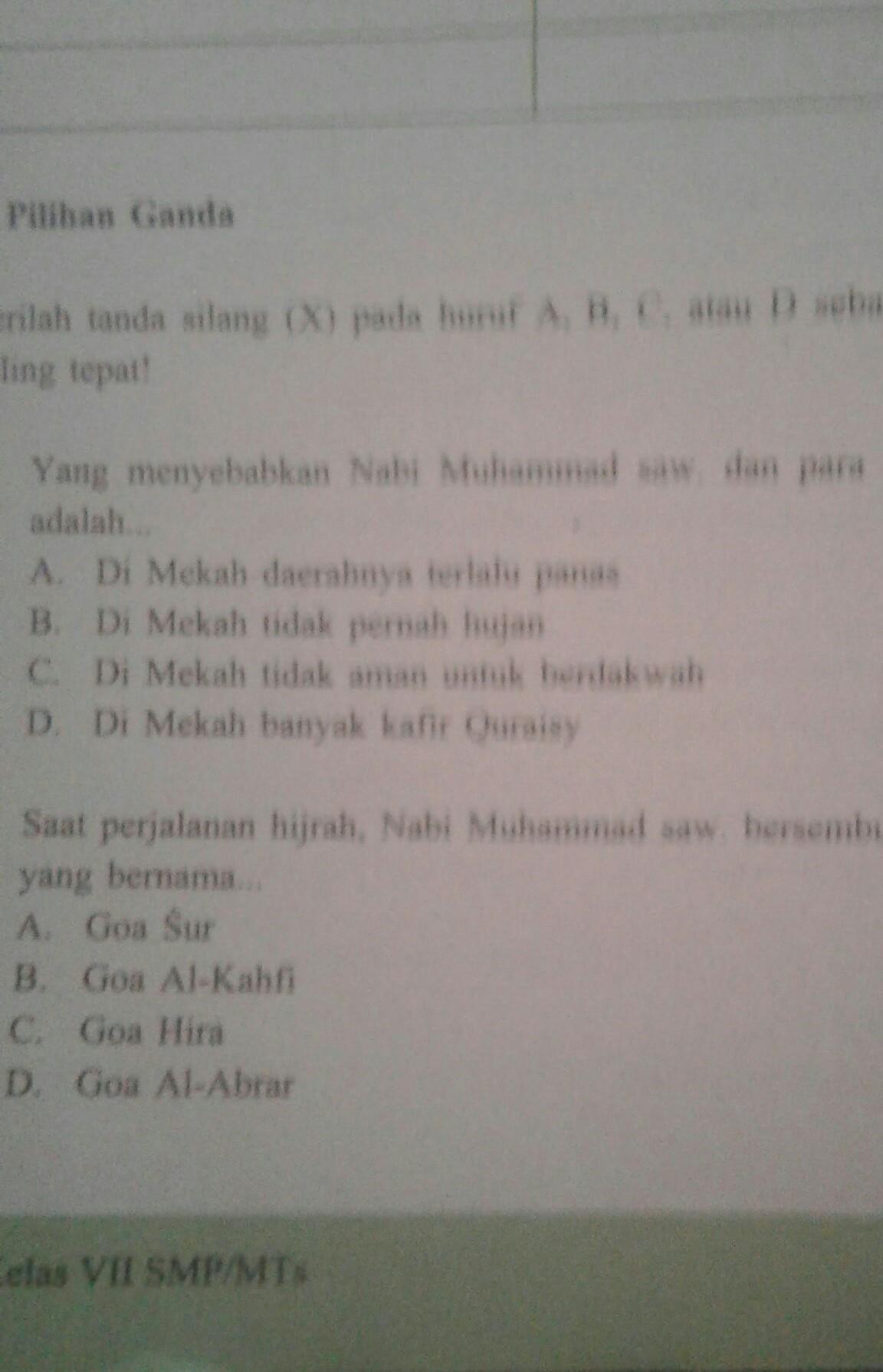 Jawaban Pai Kelas 7 Bab 11 Halaman 168 Sampai 170 Yang Pilihan Ganda Sampai Yang Uraian Tolong Brainly Co Id