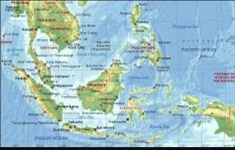 Gambaran Peta Wilayah Kawasan Asia Tenggara Brainly Id Gambar Negara