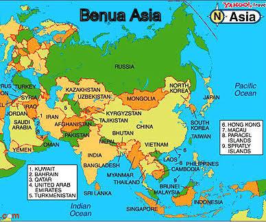 Gambar Peta Benua Asia Brainly Id Australia Jelas