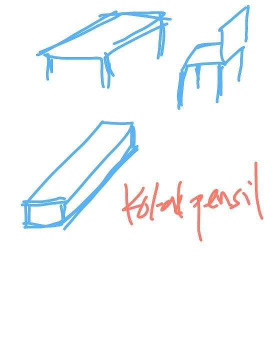 46 Gambar Kursi Meja Dengan Pensil HD