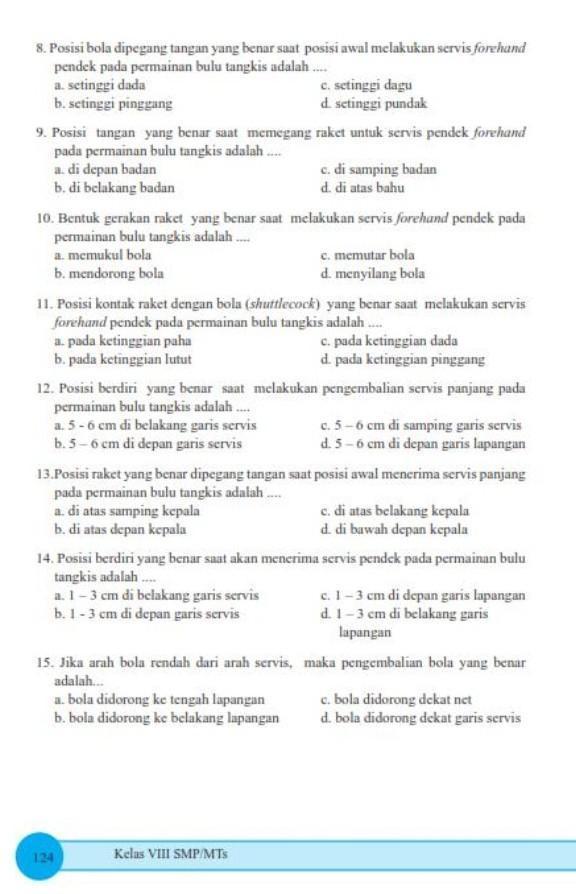 Kunci Jawaban Buku Paket Penjaskes Kelas 8 Kurikulum 2013 Guru Galeri