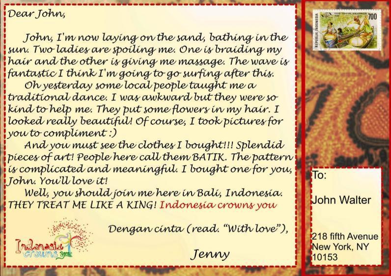 Contoh Postcard Berlibur Dalam Bahasa Inggris Brainly Co Id