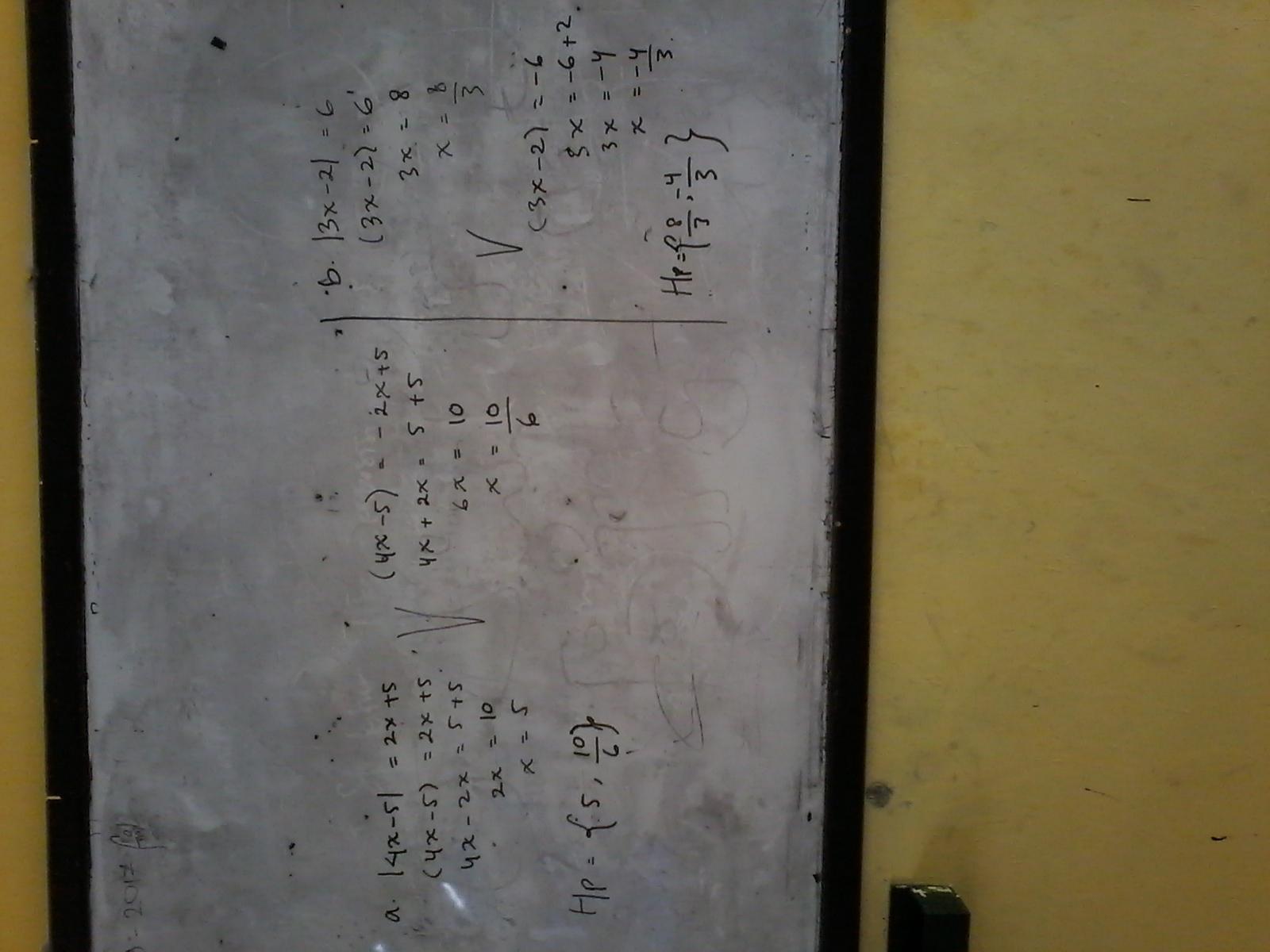 Tentukan Nilai X Dari Persamaan Nilai Mutlak Berikut A 4x 5 2x 5 B 3x 2 6 Brainly Co Id