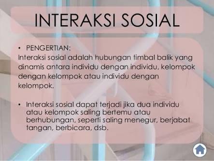 Sebutkan Dan Jelaskan Pengertian Interaksi Sosial Dan Contohnya
