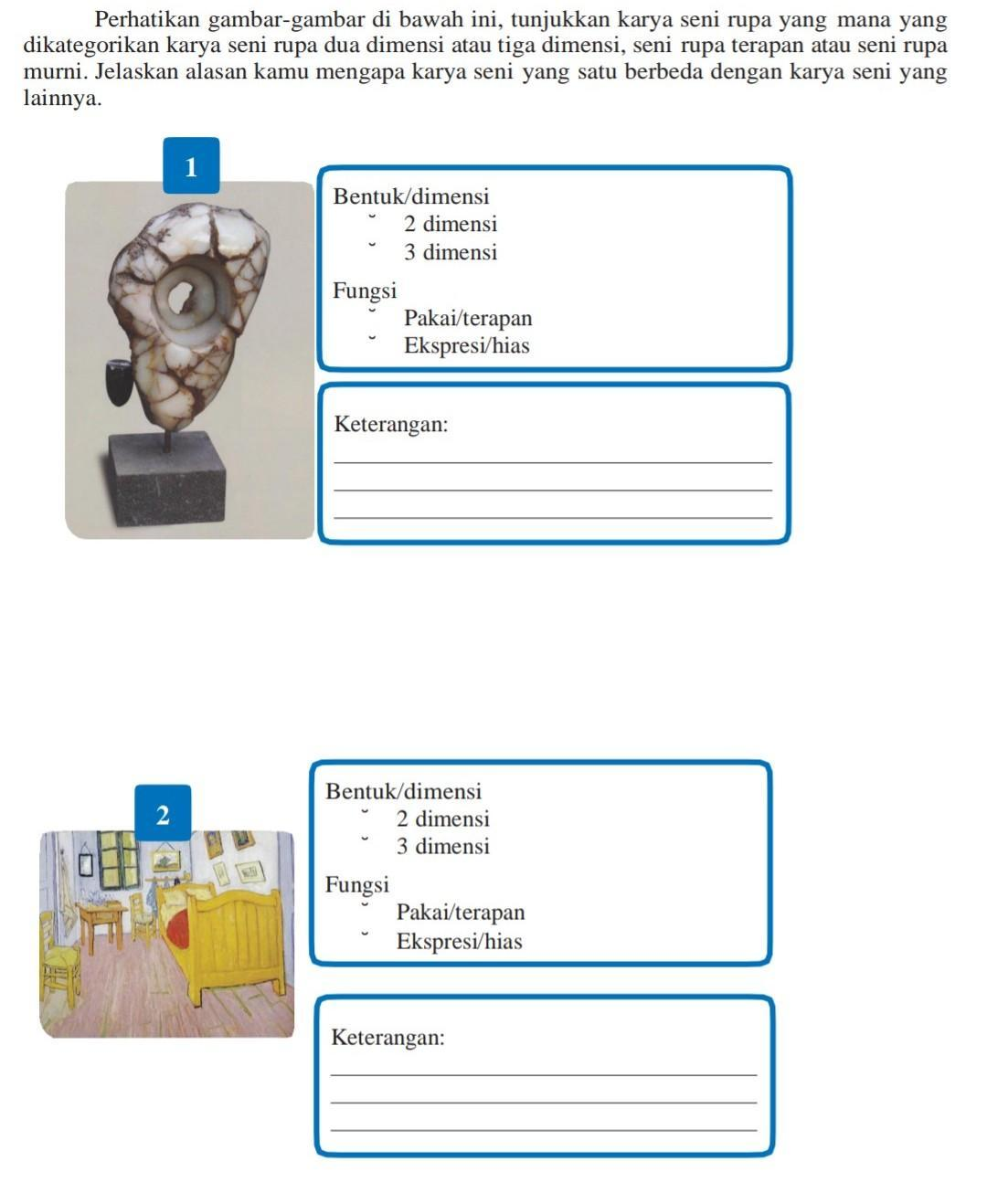 Perhatikan Gambar Gambar Di Bawah Ini Tunjukkan Karya Seni Rupa Yang Mana Yangdikategorikan Karya Brainly Co Id