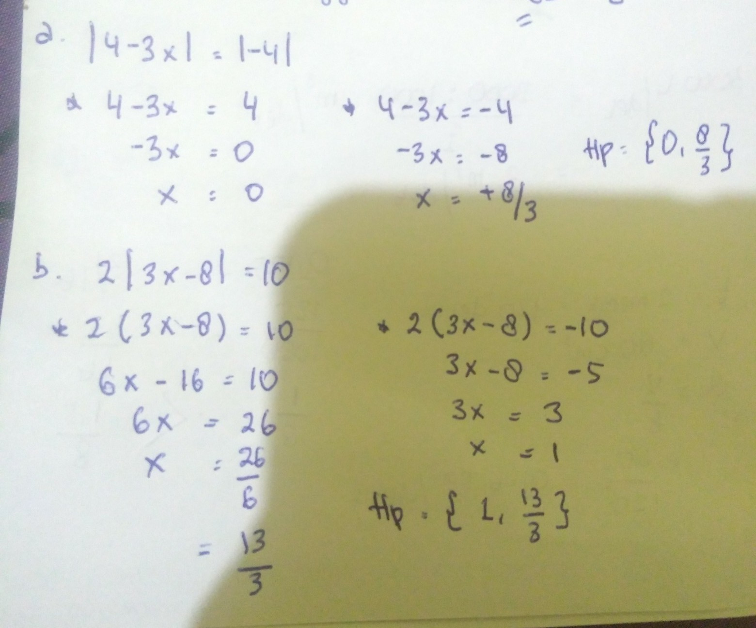 Hitunglah Nilai X Jika Ada Yang Memenuhi Persamaan Nilai Mutlak Berikut Jika Tidak Ada Nilai X Brainly Co Id