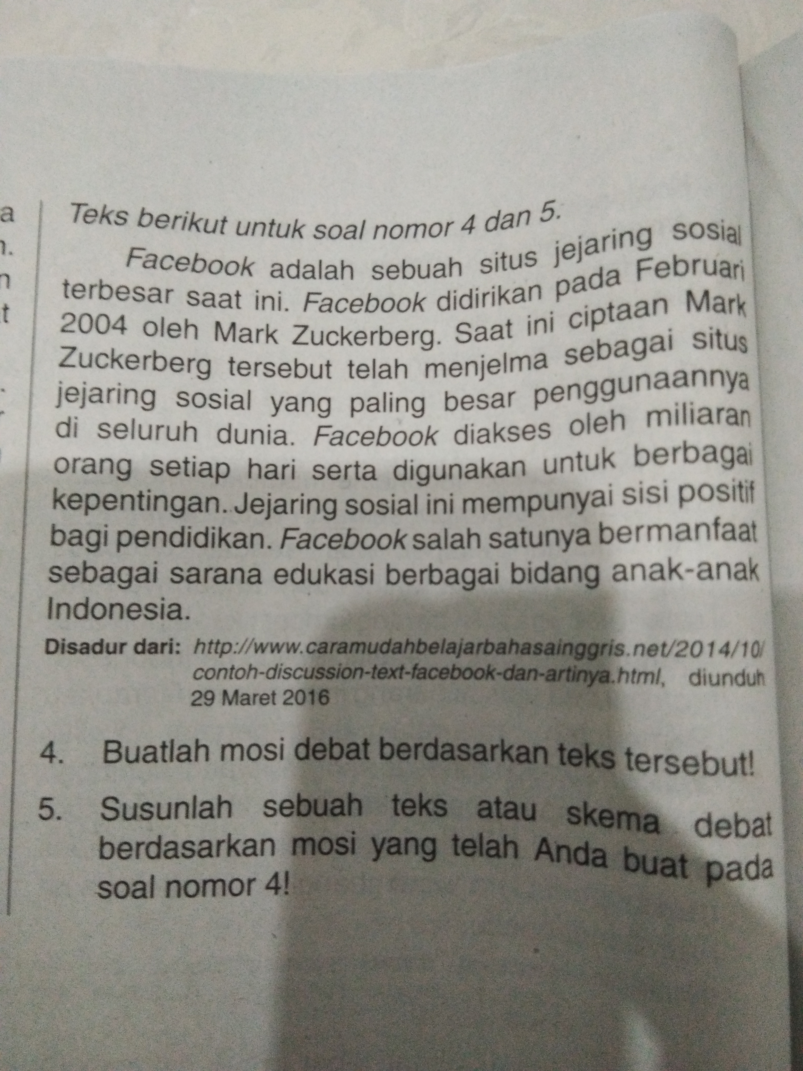 Pertanyaan Nomor 4 Ya Brainly Co Id