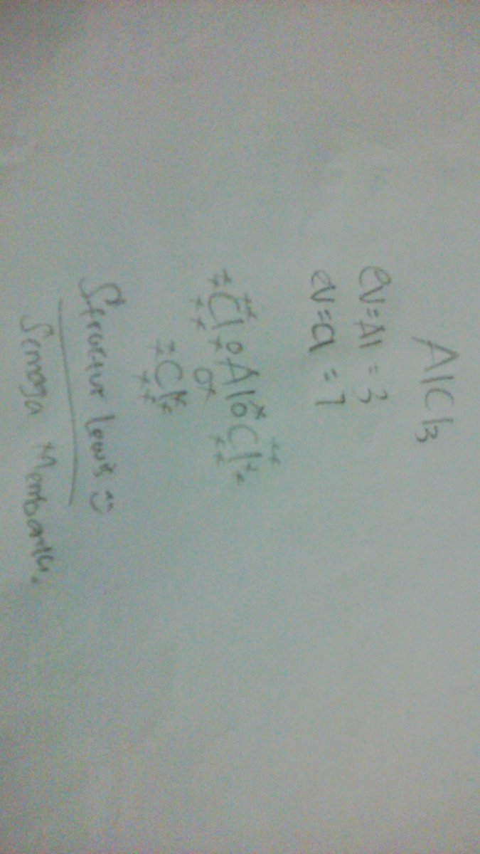 gambarkanlah struktur lewis pembentukan senyawa ion AlCl3 ...