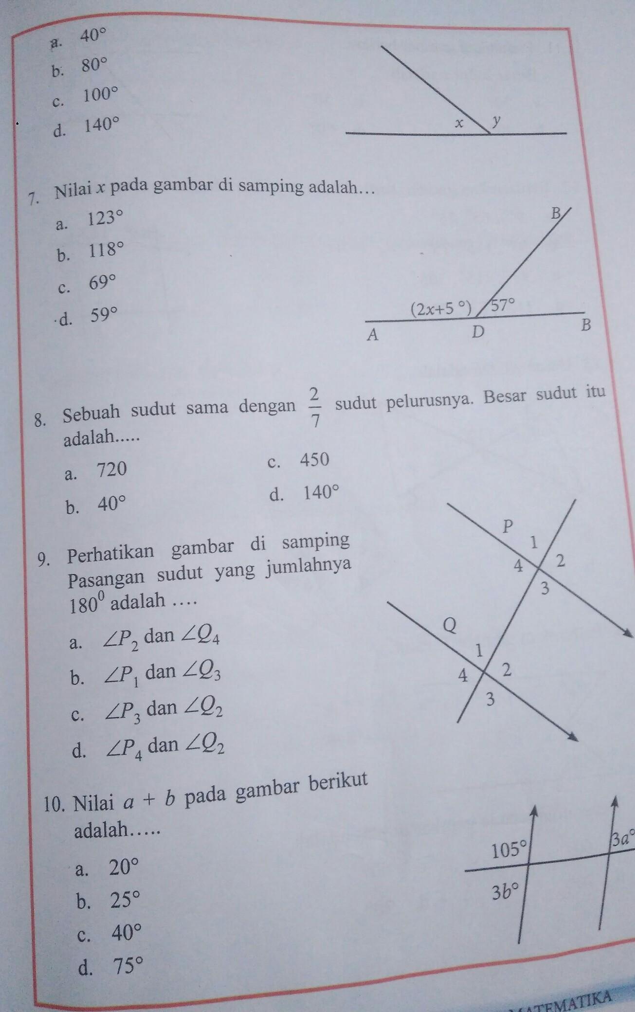 Matematika Uji Kompetensi 7 Kelas 7 Semester 2 Hal 173 Cepet Dijawab Ya Brainly Co Id