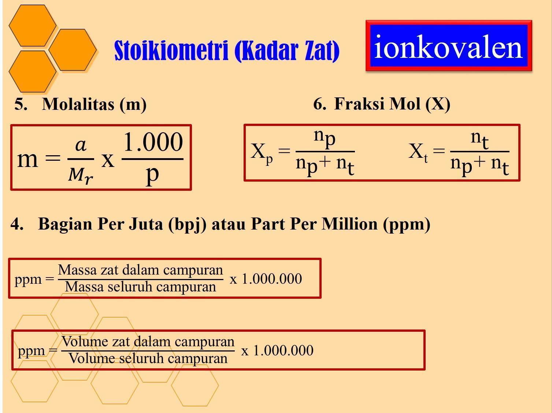 fraksi mol NaOH(Mr=40) dalam air adalah 0.25 . Hitunglah ...