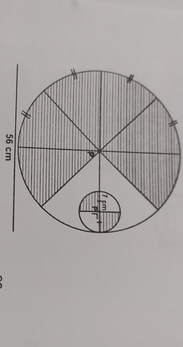 luas daerah yang diarsir adalah (π=22/7 - Brainly.co.id