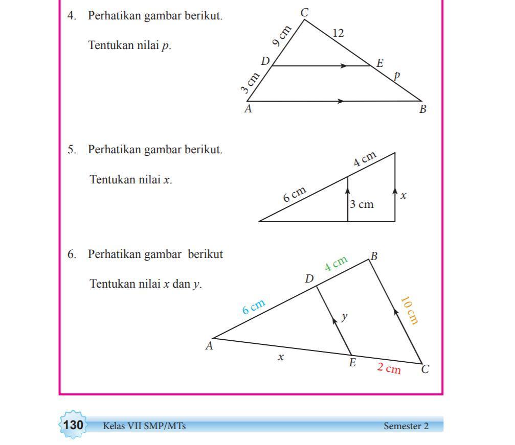 Kunci Jawaban Matematika Kelas 7 Semester 2 Halaman 130 Guru Galeri