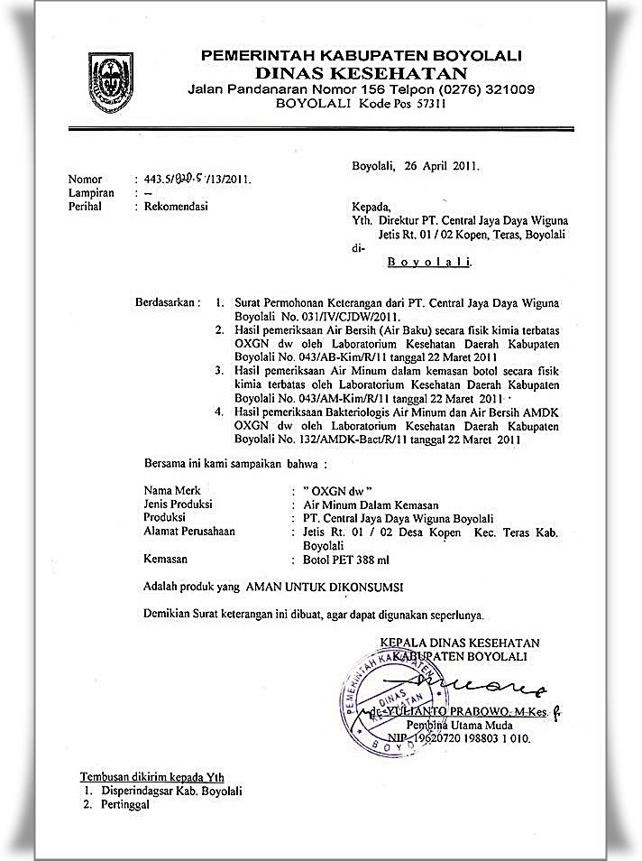 Surat Resmi Yang Dikeluarkan Oleh Instansi Pemerintahan