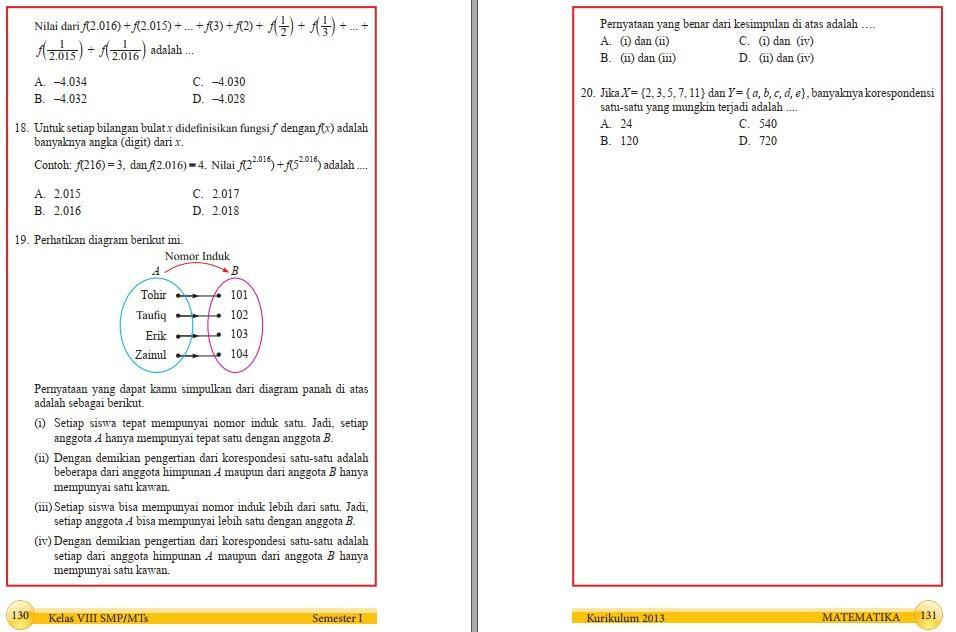 Jawaban Buku Paket Matematika Kelas 7 Semester 2 Halaman 130 Guru Ilmu Sosial