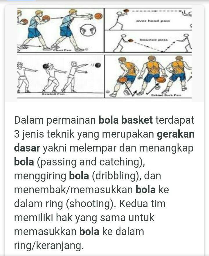 Gerak Dasar Bola Basket Brainly Co Id