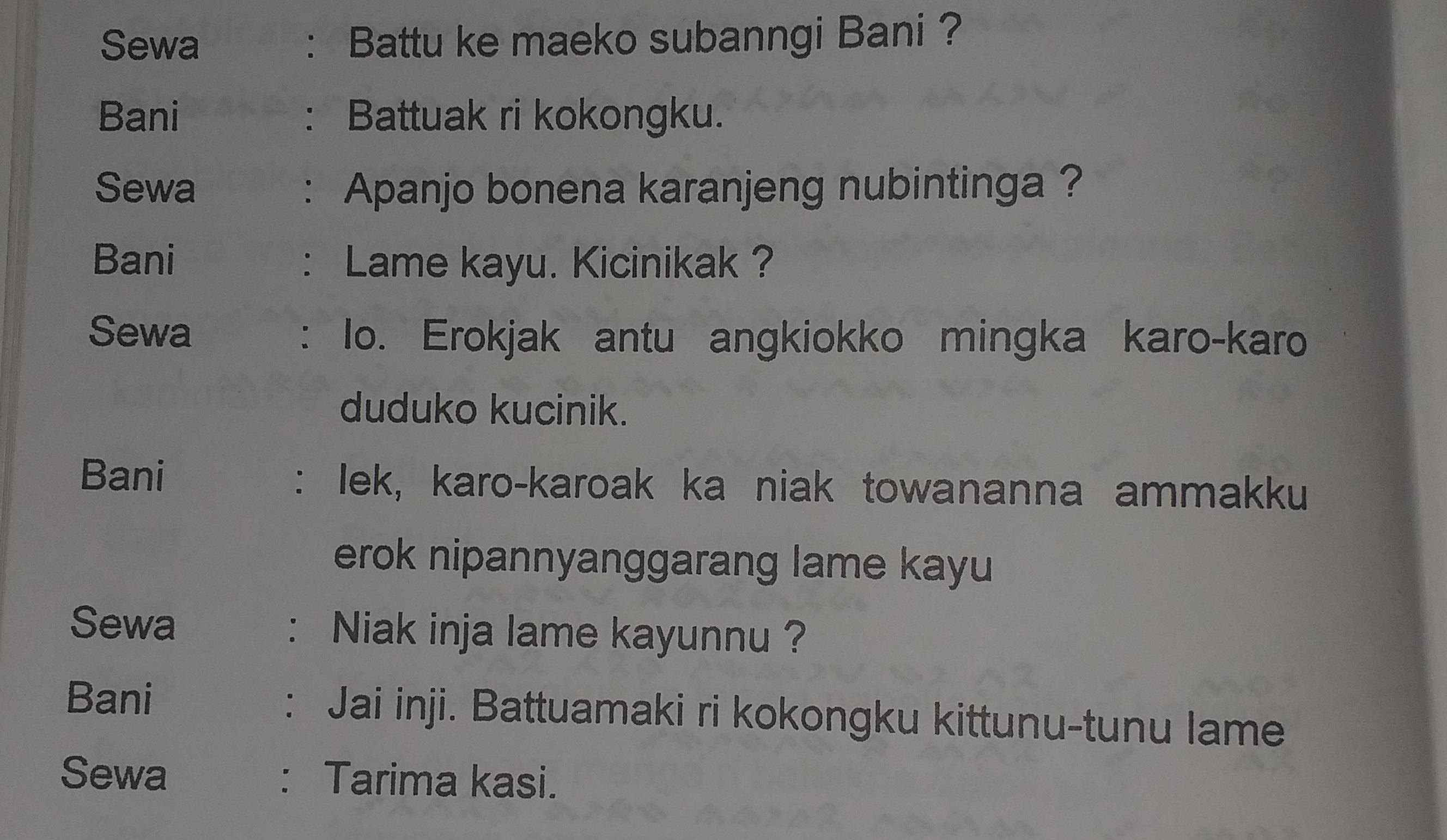 Awas Hawab Asal2 Artikan Percakapan Bahasa Makassar Menjadi Bahasa Indonesia Cepat Jawabnya Karna Brainly Co Id