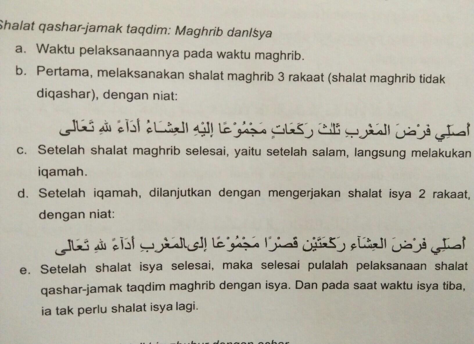 Niat Salat Jamak Taqdim Magrib Dengan Isya Brainly Co Id