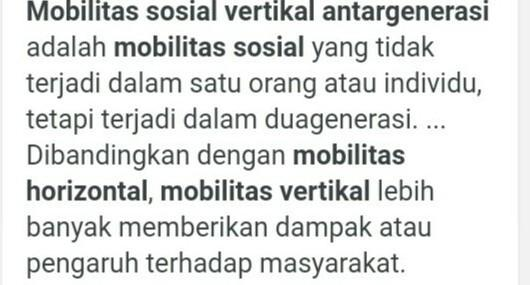 mobilitas sosial vertikal intragenerasi naik - Brainly.co.id