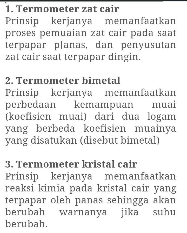 21++ Prinsip kerja termometer zat cair information