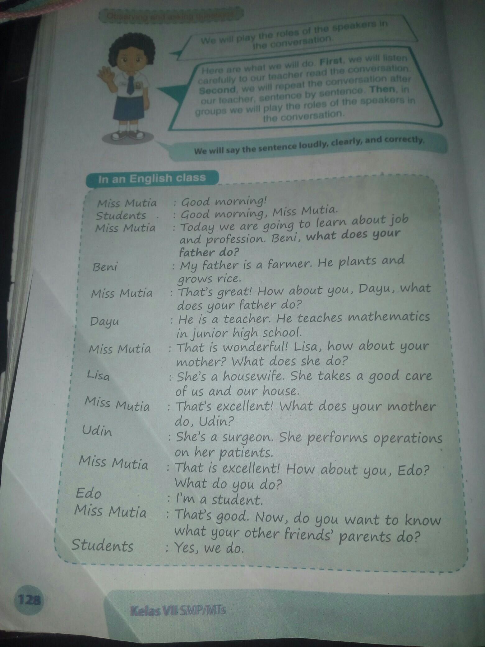 Terjemahkan Bahasa Inggris Kelas 7 Buku Paket Halaman 128 Brainly Co Id