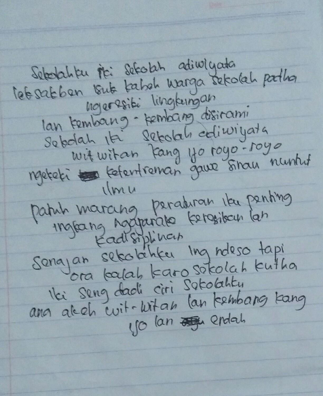 Puisi Sekolah Adiwiyata Bahasa Jawa Nusagates