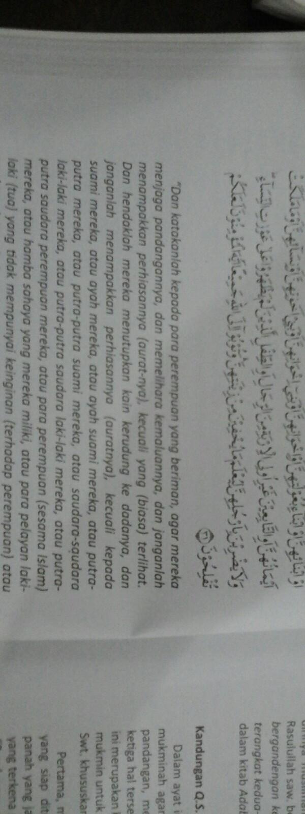 carilah ayat Al-Qur'an dan hadis yang berhubungan dengan ...