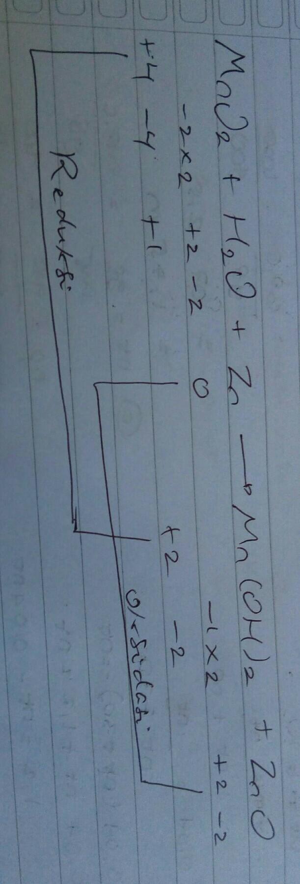 Mno2s H2ol Zns Gt Mnoh2s Znos Spesi Kimia Yang