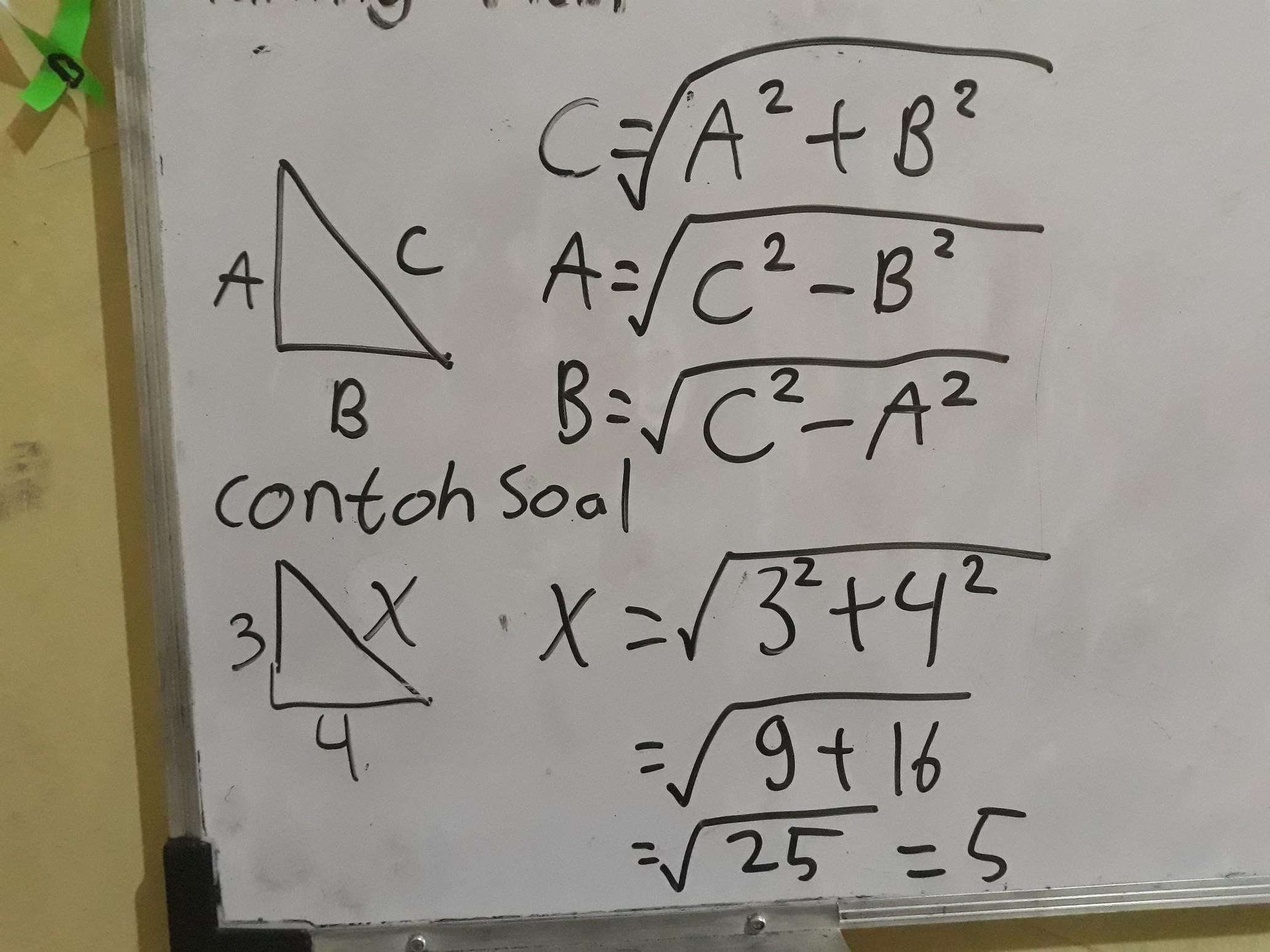 Tuliskan Rumus Teorema Phytagoras Beserta Contoh Soal Dan Jawabannya Terima Kasih Brainly Co Id
