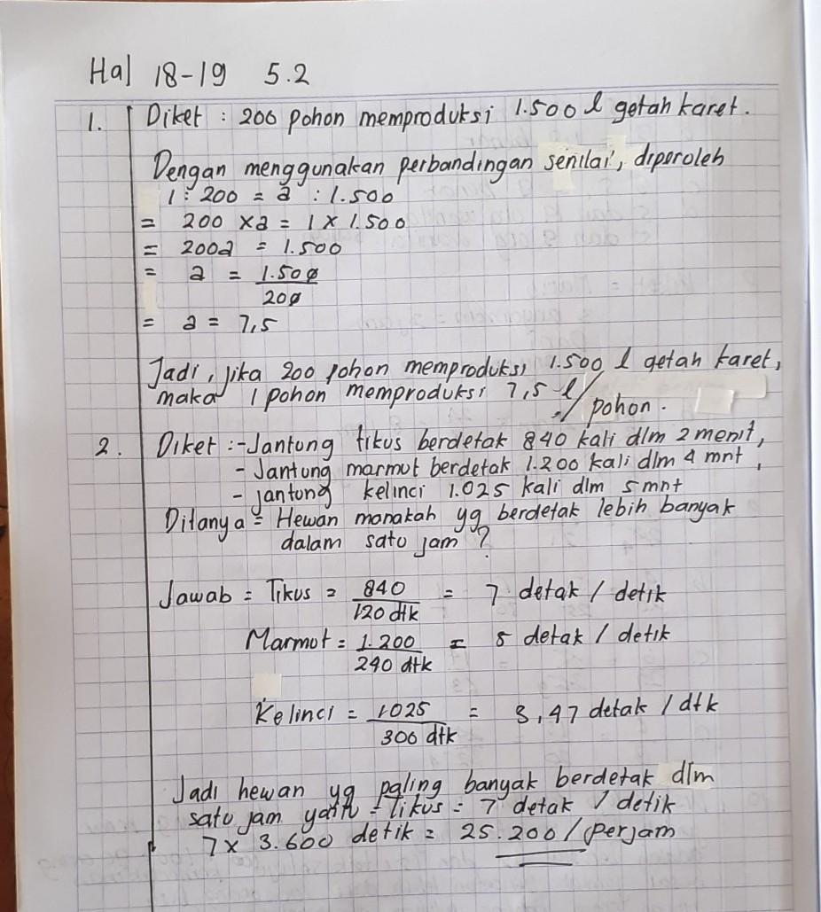 Kunci Jawaban Matematika Kelas 7 Semester 2 Hal 18 Brainly Co Id
