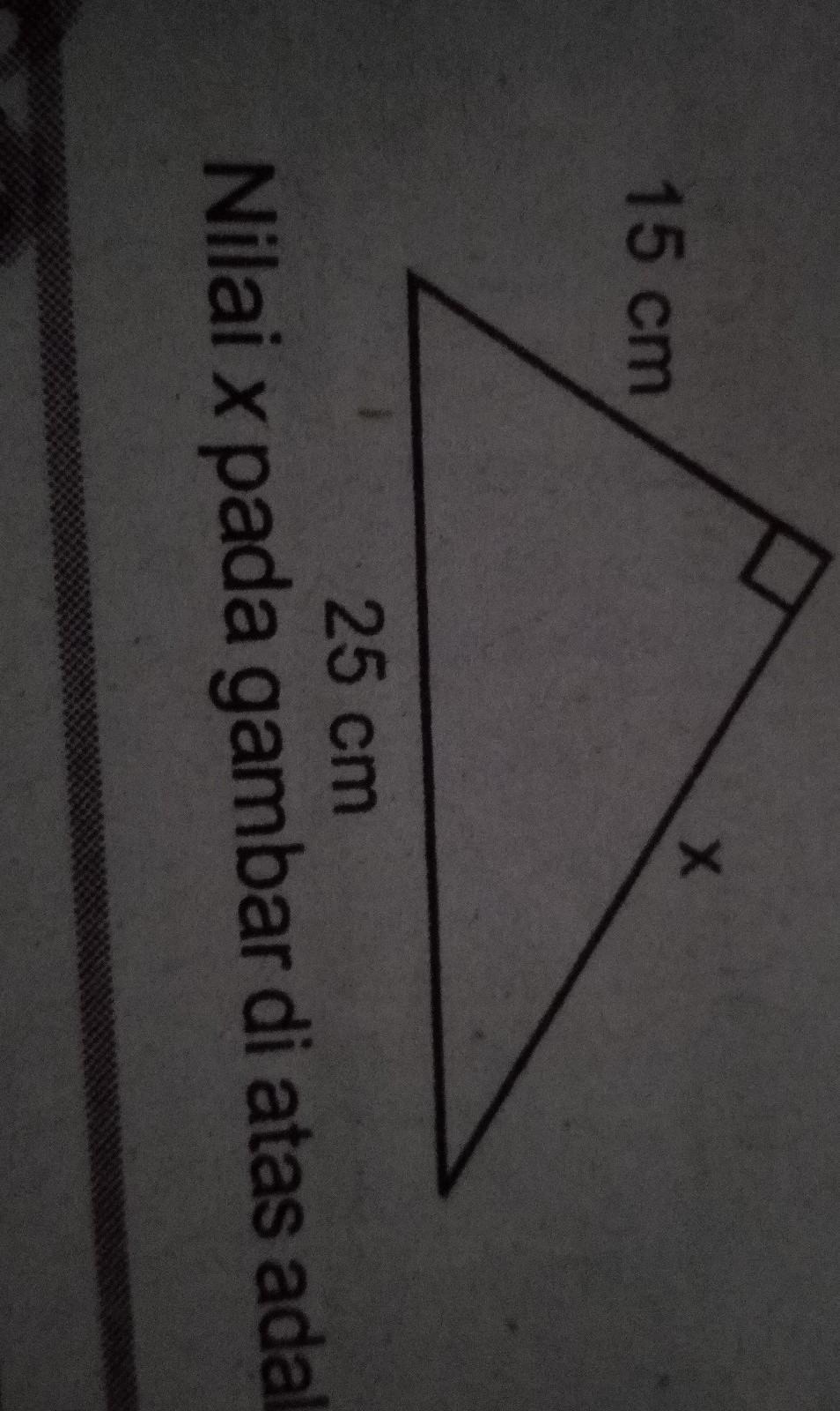 3.perhatikan gambar di bawah ini nilai x pada gambar di ...