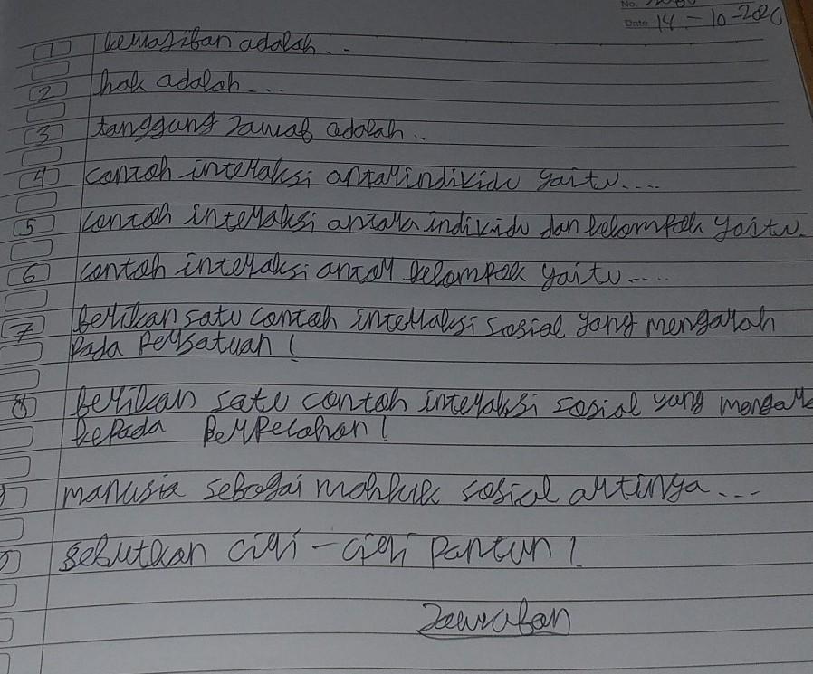 Hak Adach5 Tanggung Jawa Adalah3 Canish Inwaksi Antalindikidi Gaitu Concer Interaksi Antara Brainly Co Id