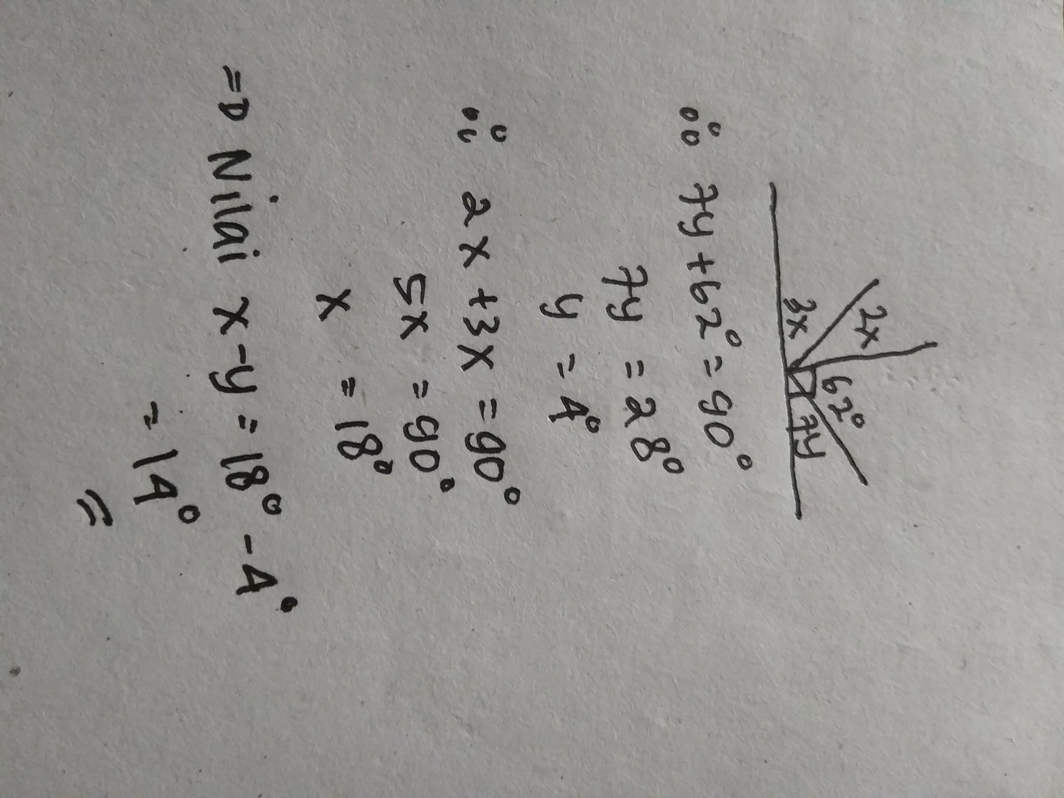 pada gambar di bawah ini, garis AB tegak lurus garis CD ...