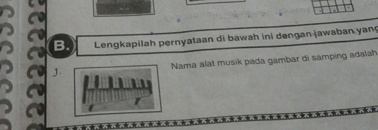 Nama Alat Musik Pada Gambar Di Samping Adalah Brainly Co Id